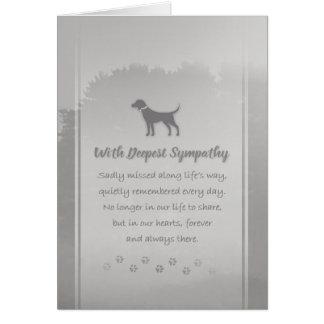 Condolencia del veterinario y del perro del tarjeta de felicitación