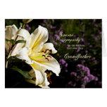 Condolencia en la muerte de un abuelo tarjeta