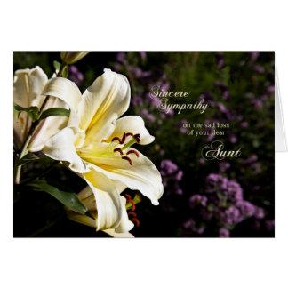 Condolencia en la muerte de una tía tarjeta de felicitación