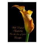 Condolencia en la pérdida de abuelo tarjeta