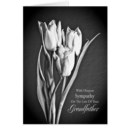 Condolencia en la pérdida de abuelo tarjeta de felicitación