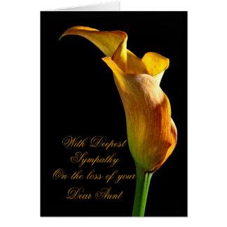 Condolencia en la pérdida de tía tarjeta de felicitación