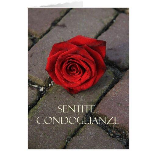 condolencia italiana Sentite Condoglianze Tarjetón