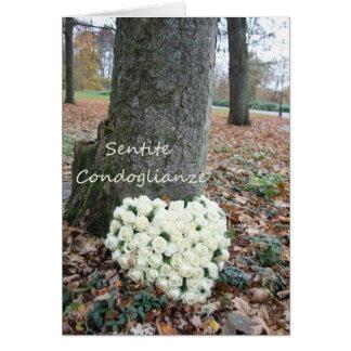condolencia italiana Sentite Condoglianze Tarjeta De Felicitación