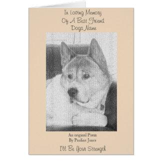 condolencia leal original del mascota del poema tarjeta de felicitación