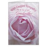 Condolencia para la pérdida de abuela, un color de tarjeta