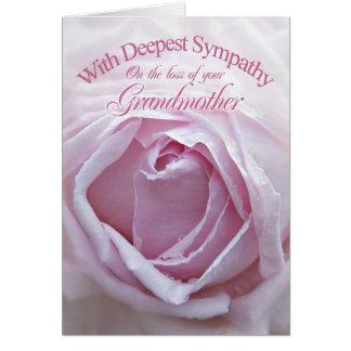 Condolencia para la pérdida de abuela, un color de tarjeta de felicitación