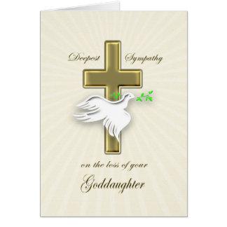 Condolencia para la pérdida de ahijada tarjeta de felicitación