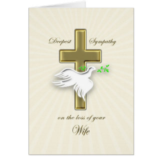 Condolencia para la pérdida de esposa tarjeta de felicitación