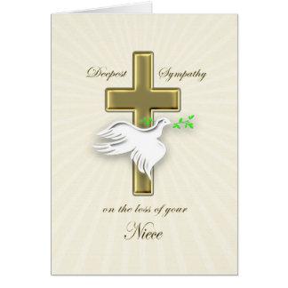 Condolencia para la pérdida de sobrina tarjeta
