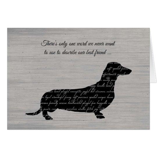 Condolencia, pérdida de perro, collage de la tarjeta de felicitación