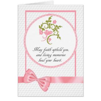 Condolencia sentida floral y de la mariposa bonita tarjeta de felicitación