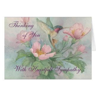 Condolencia sentida - tarjeta de felicitación