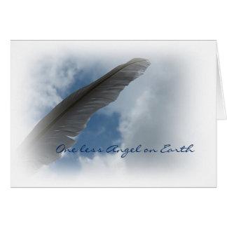 Condolencia y cuidado tarjeta