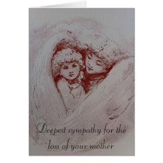 Condolencias para el paso de una madre tarjeta de felicitación
