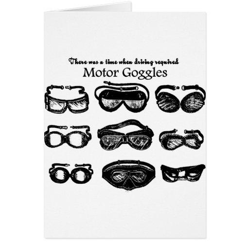 Conducción del texto de las gafas del motor tarjeta