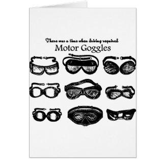 Conducción del texto de las gafas del motor tarjeta de felicitación