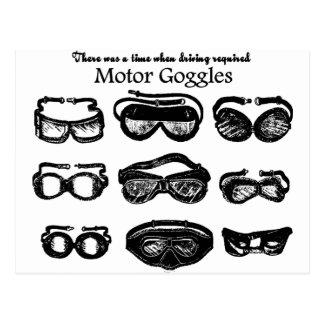 Conducción del texto de las gafas del motor postal