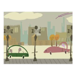 Conducción en la ciudad postal