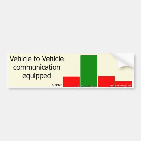 Conductor a la comunicación del conductor pegatina para coche