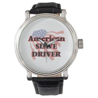 Conductor auxiliar americano reloj