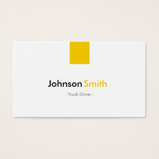 Conductor de camión - amarillo ambarino simple tarjeta de negocios