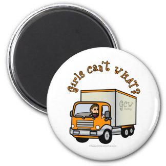 Conductor de camión de sexo femenino ligero iman de nevera