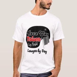 Conductor de coche de carreras del abogado de la camiseta