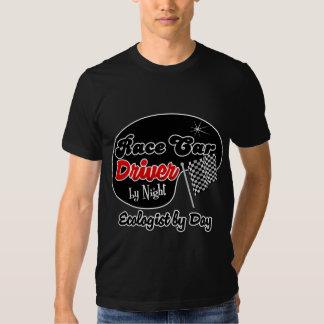Conductor de coche de carreras del ecologista de camisetas
