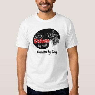 Conductor de coche de carreras del silvicultor de camisetas