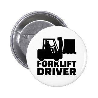Conductor de la carretilla elevadora chapa redonda de 5 cm