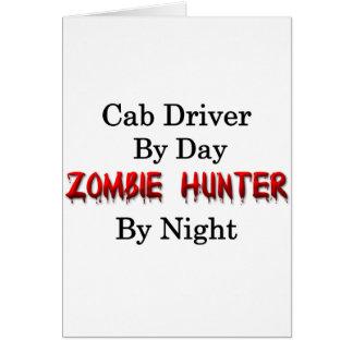 Conductor de taxi/cazador del zombi tarjeta de felicitación