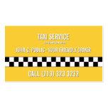 Conductor de taxi el simple echado a un lado tarjetas de visita