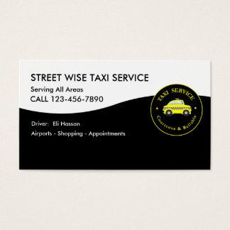 Conductor de taxi tarjeta de negocios
