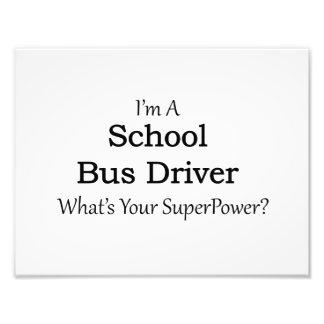 Conductor del autobús escolar fotografía