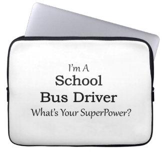 Conductor del autobús escolar funda para ordenador
