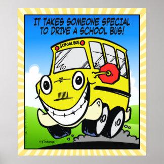 Conductor del autobús escolar póster