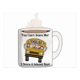 Conductor del autobús escolar tarjetas postales