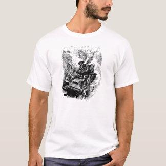 Conductor del esqueleto del coche de carreras del camiseta