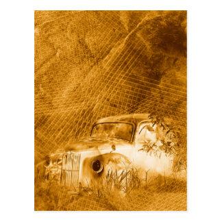 Conductor del fantasma en postal de la vertical