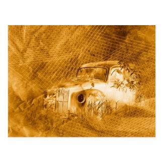 Conductor del fantasma en postal horizontal del