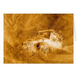 Conductor del fantasma en tarjeta horizontal del