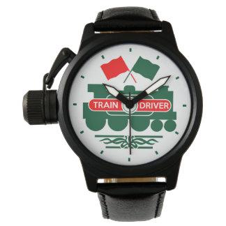 Conductor del tren reloj
