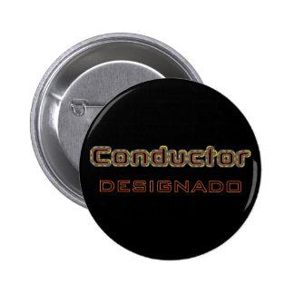 Conductor Designado Botón Pins