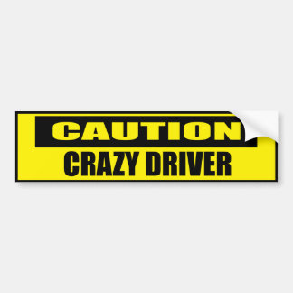 Conductor loco de la precaución divertida pegatina para coche