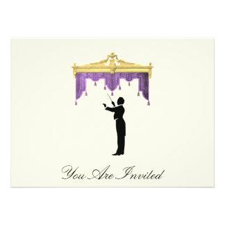 Conductor y cortina del teatro - el vintage invita invitaciones personales