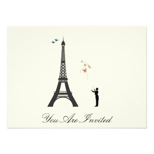 Conductor y torre Eiffel - el vintage invita Comunicados