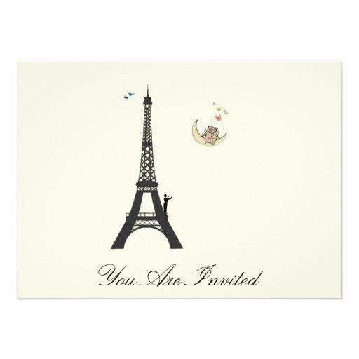 Conductor y torre Eiffel - el vintage invita Anuncios