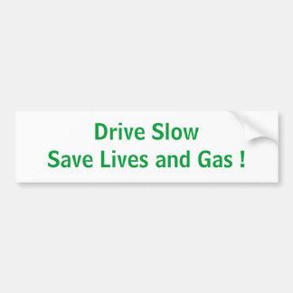 Conduzca lento pegatina para coche
