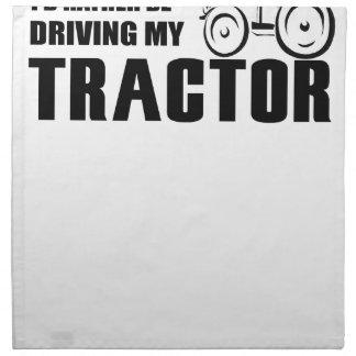 Conduzca mi tractor servilletas de papel